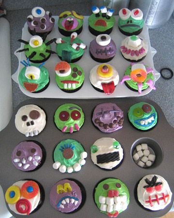 Creepcake Cupcakes: Your Martha-Inspired Cupcakes  These frighteningly sweet cupcakes were inspired by our menagerie of Creepcake Cupcakes.