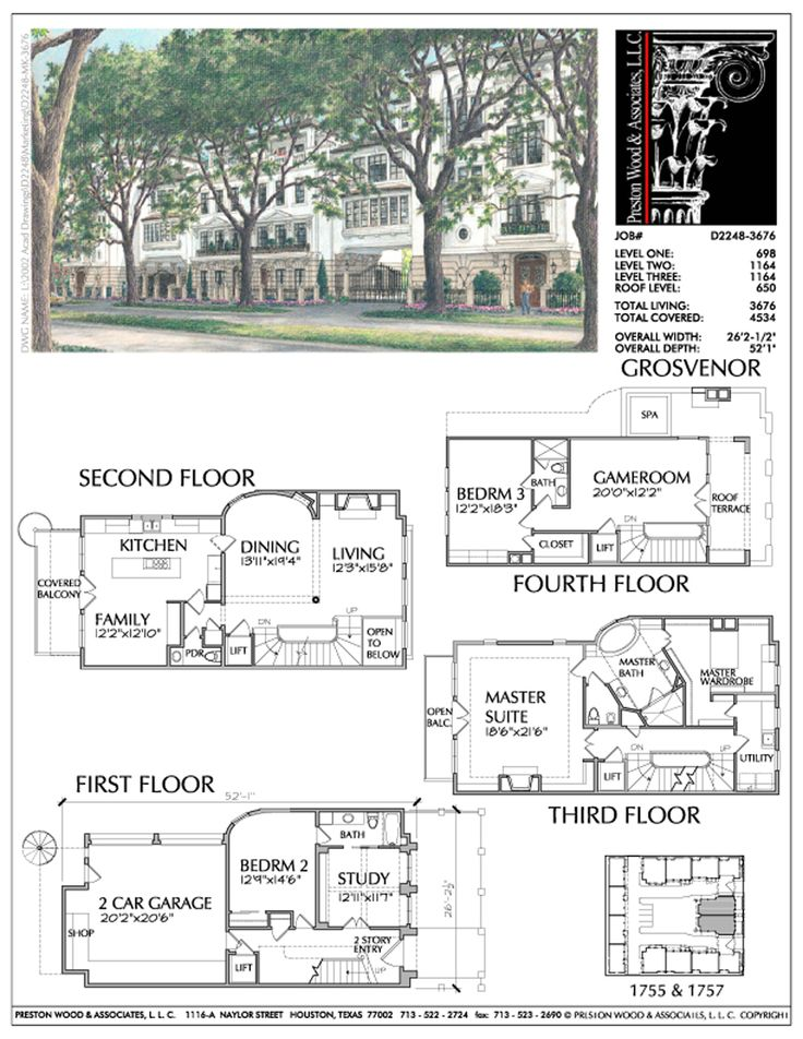 Duplex Townhome Plan Ad2248 Grosvenor Floor Plans