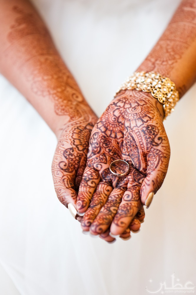 henna + white gown