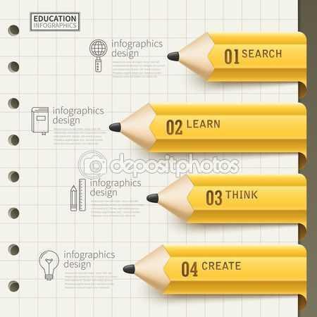 Дизайн образование инфографики — стоковая иллюстрация #101792598
