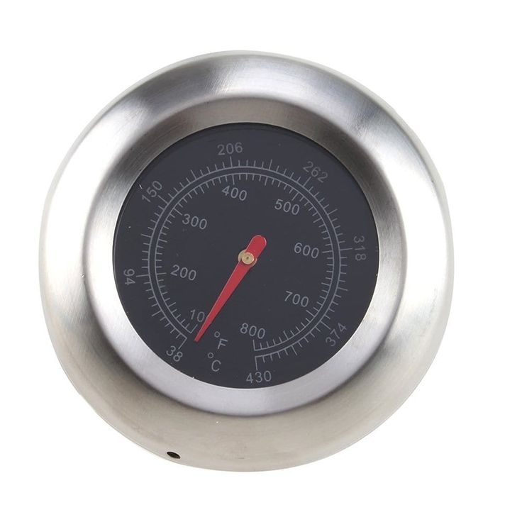 AGPtek Stainless Steel (Silver) 3 BBQ Grill Cooking Thermometer Temperature Gauge 38-430℃/100-800℉