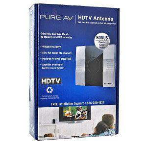Belkin PureAV Amplified Indoor Antenna AV48001 HDTV/VHF/UHF/FM
