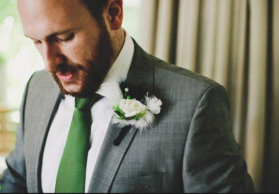 5aa1767029b8 green tie grey suit