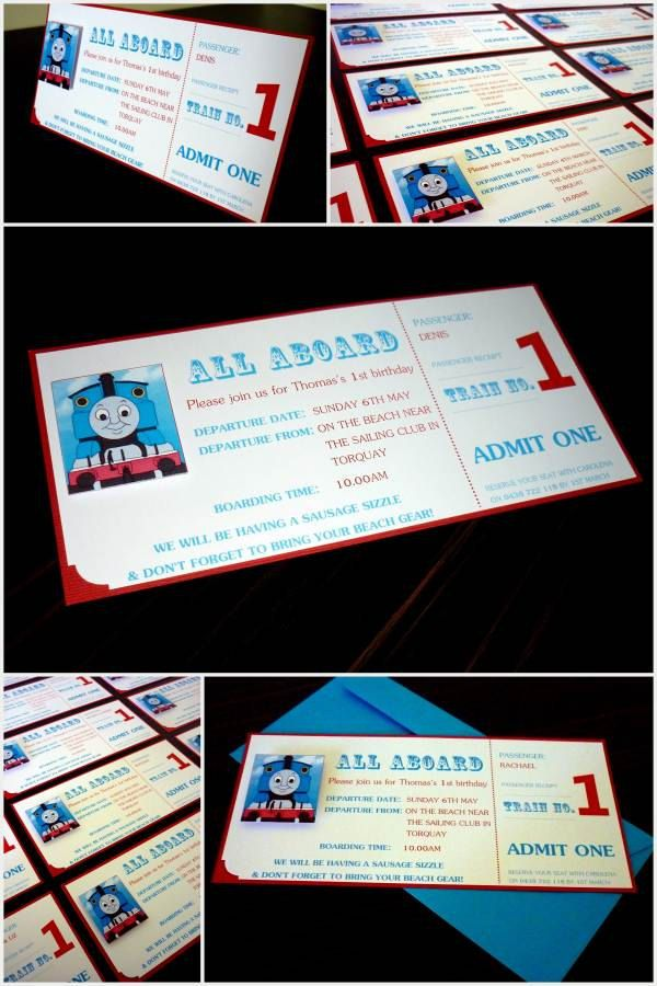 Thomas the Tank Engine Train Ticket style by StunningStationery, $40.00