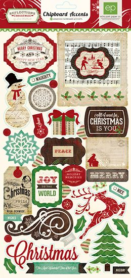 Echo Park - Reflections Collection - Christmas - Chipboard Stickers at Scrapbook.com