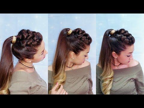 Como hacer trenzas africanas cruzada - peinado con trenza africana - - YouTube