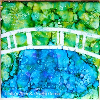 "Holly's Arts and Crafts Corner: Craft Project: Alcohol Ink Tiles Part 3: Mini ""Masters"" tiles"