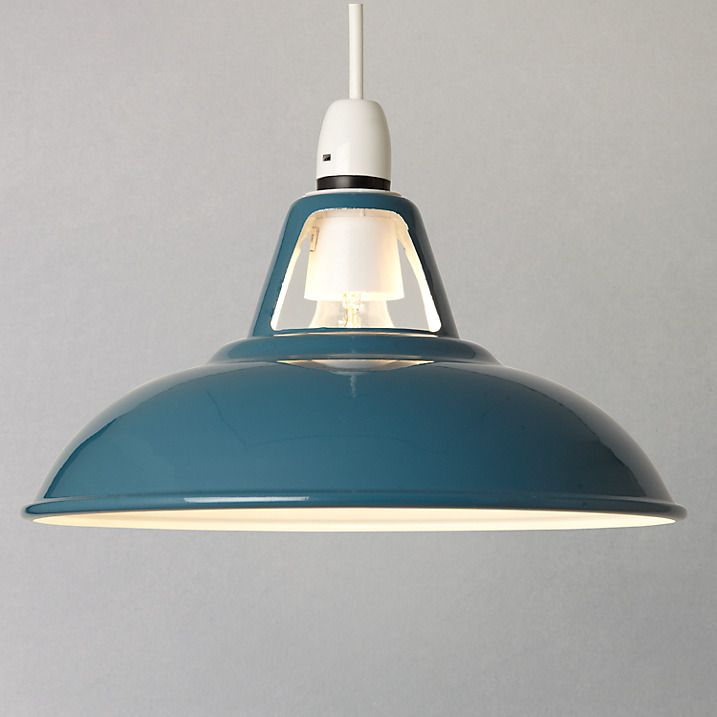 Buy John Lewis Croft Collection Easy-to-fit Campbell Ceiling Shade, Blue Online at johnlewis.com