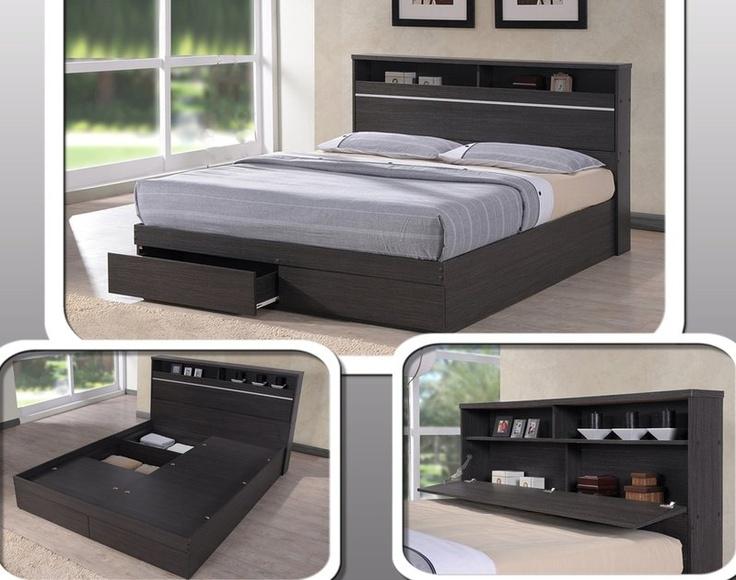 best 25 queen size storage bed ideas on pinterest queen storage bed frame bed frame storage and twin platform bed frame - Queen Size Bed Frame With Storage
