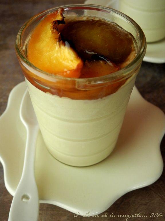 Panna Cotta au sucre et lait de coco, fruits d'été rôtis | Blog de recettes bio : Le cri de la courgette...