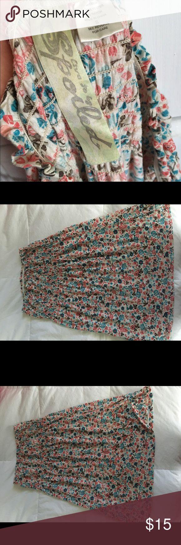Tube top mini dress. Summer tube top floral print mini dress. Spoiled brand. Size small. Dresses