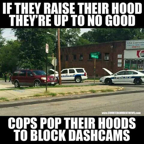 ~My question is, what about when an officer pulls a driver over and pops the hood before even exiting the vehicle? Does a motorist have the right to ask the officer to lower the hood, or would that be an immediate case of resisting arrest and threatening an officer? Because those are the grounds by which 240+ citizens have been fatally fired upon by police officers.~