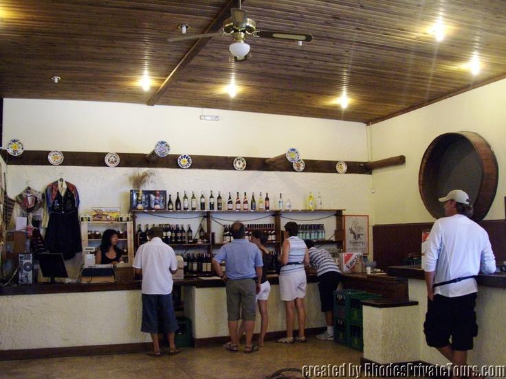 The west coast of Rhodes Island - Embona Village - Emery Winery - Free Wine Tasting