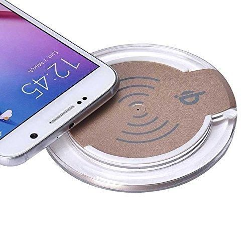 Galaxy S6/S6 Edge Plus Wireless Charger Charging Pad Lookatool Qi Wireless Charger Charging Pad For Samsung Galaxy S6/S6 Edge Plus (Gold)