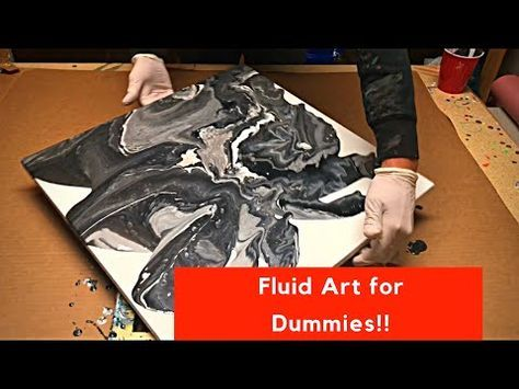 Fluid Painting Made Easy!! Acrylic Pour Painting With 3 Ingredients!! Please Share and Subscribe!! - YouTube