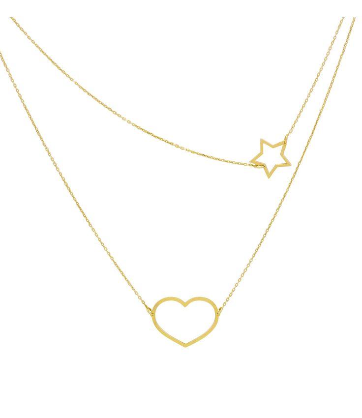 Necklace Heart Star Kettingen Super Stylish. (€49,95)