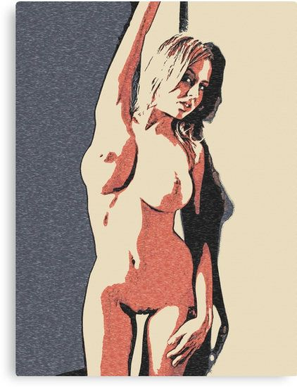 Perfect and fit blonde posing naughty, nude under wall • Also available as T-Shirts & Hoodies, Men's Apparels, Women's Apparels, Stickers, iPhone Cases, Samsung Galaxy Cases, Posters, Home Decors, Tote Bags, Pouches, Prints, Cards, Mini Skirts, Scarves, iPad Cases, Laptop Skins, Drawstring Bags, Laptop Sleeves, and Stationeries #erotic #mature #adult #home #decor #print #canvas #art #sexy #naughty #kinky