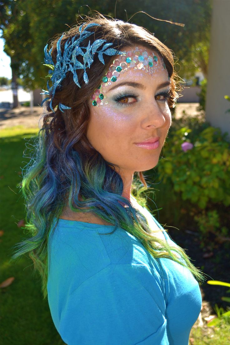 Mermaid Makeup by Melinda--(You have this leaf in your mermaid party set-L)