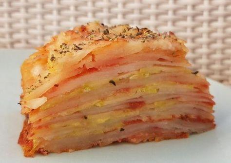 Receta de Milhojas de patatas y calabacín - ¡Con queso vegano! #RecetasGratis #RecetasCocina #RecetasFáciles #Calabacín #RecetasSaludables #ComerCalabacin #CocinarCalabacin