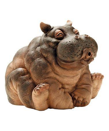 Look at this #zulilyfind! Hanna the Hippo Statue #zulilyfinds