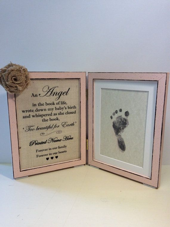 Baby loss memorial Stillbirth Miscarriage Lost Angel by PicToFrame