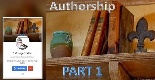 New web page: This is Part 1 of 2 on how to setup Google authorship in WordPress.  http://1stpagetraffic.com/blog/how-to-setup-google-authorship-in-wordpress
