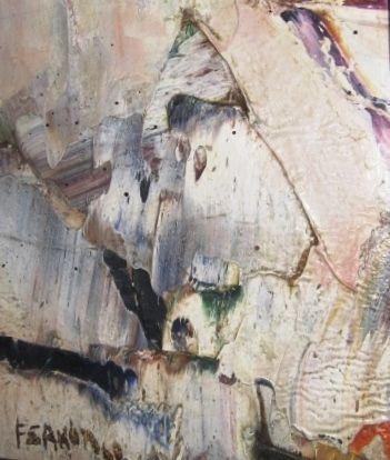 Marcelle Ferron, sans titre, huile sur toile