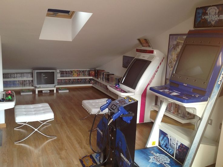 nice attic loft video game room with japanese games and on video game room ideas for adults id=21352