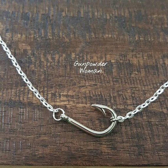 Fish Hook Choker Necklace by Gunpowder Woman for the Country Fishing Girl