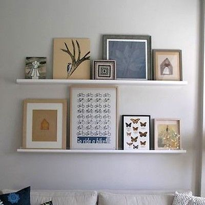 Pictures Resting In Shelves! Can Be Rearranged So Easily!