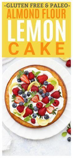 Gluten Free & Paleo Almond Flour Lemon Cake – the perfect spring, summer, or Eas…   – Easter dessert