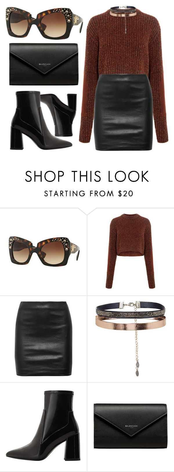 """""""Versace Sunglasses"""" by smartbuyglasses-uk ❤ liked on Polyvore featuring Versace, TIBI, The Row, Accessorize, MANGO, Balenciaga, black, versace and brown"""
