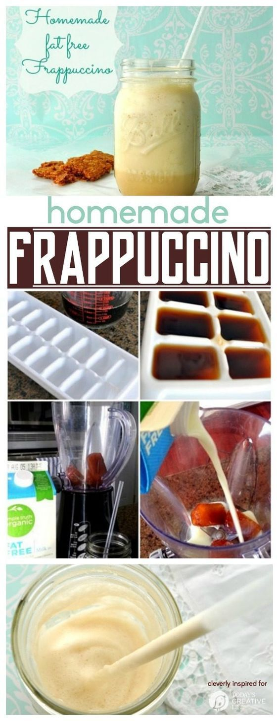 Frappuccino Recipe | Homemade Frappuccino recipe you can make right in your own kitchen! Coffee house taste without the cost! Cleverly Inspired shared on TodaysCreativeLife