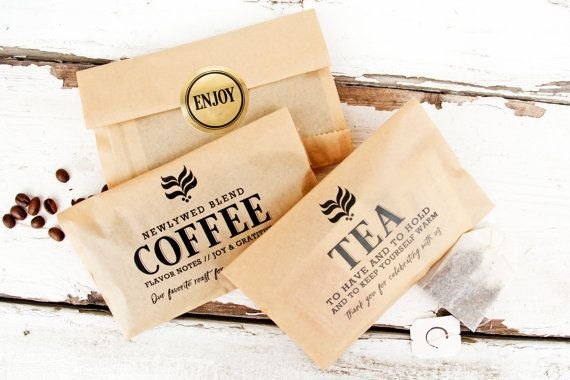Wedding Favor Tea Bag  - Budget Favor Bag - Coffee and Tea Favors  - 20 Bags