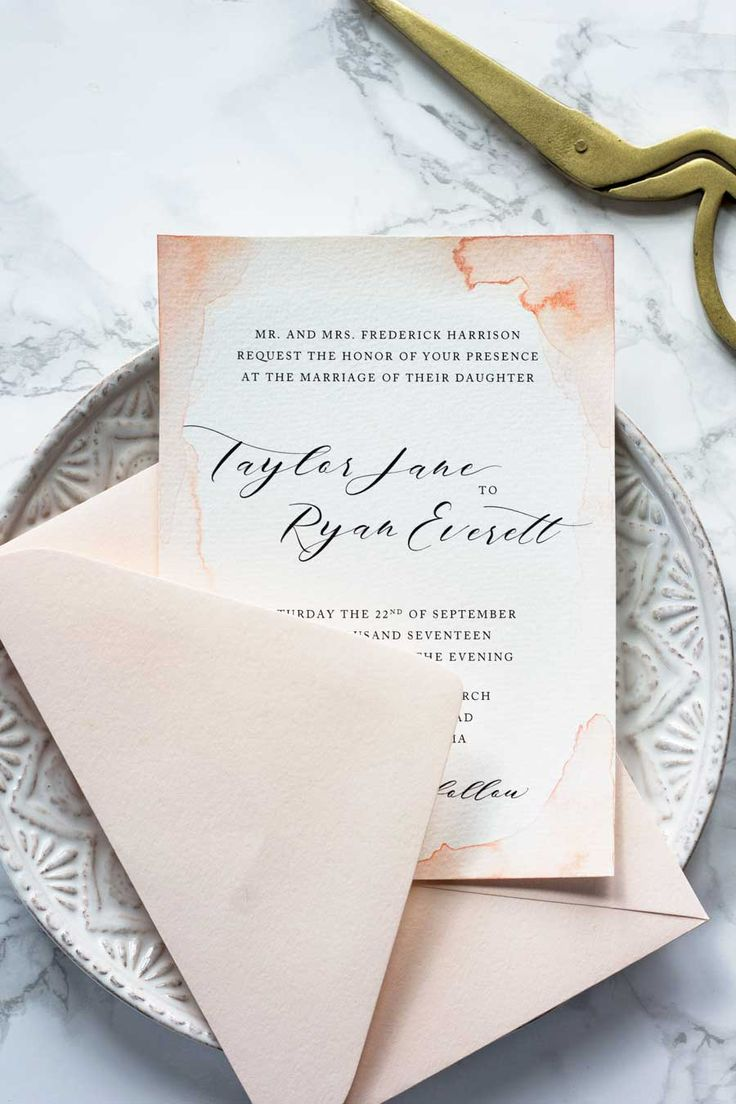 These watercolor wedding invitations are one of