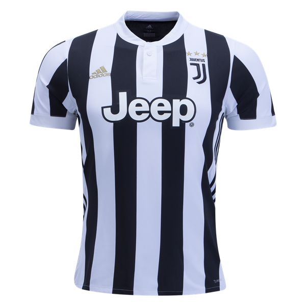 Juventus Home FootballJersey 17/18 This is theJuventus Home Football Shirt2017 2018. Get ready for the new season in the latest version of the famous zebra stripes, worn by Juventus since 1903. The home stripes are thinner, allowing nine across the front instead of last year's five. The back has a black center stripe for the […]