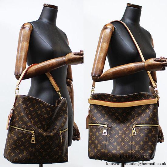 Louis Vuitton M41544 Melie Hobo Bag Monogram Canvas  2df1844602798