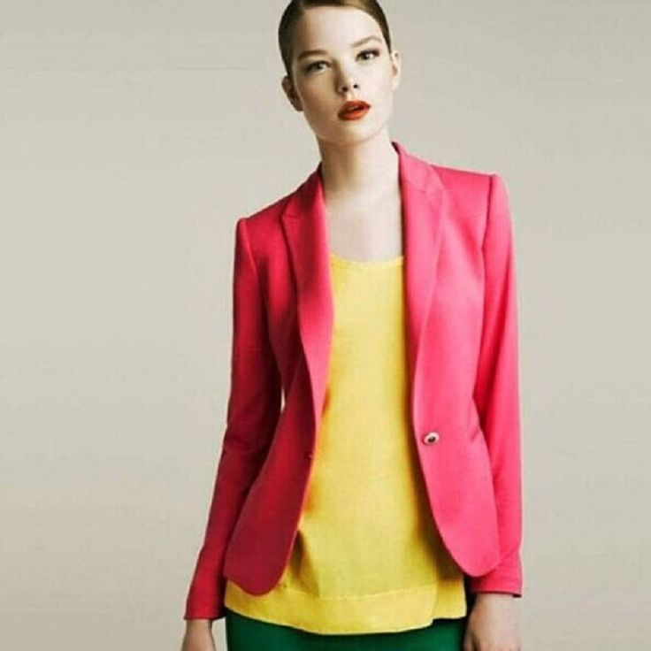 Candy Color Womens Blazer Single Button Slim Blazer Feminino 2016 Casual Suit Coat Plus Size XXL XS Blazer  A7996