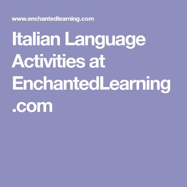 Italian Language Activities at EnchantedLearning.com