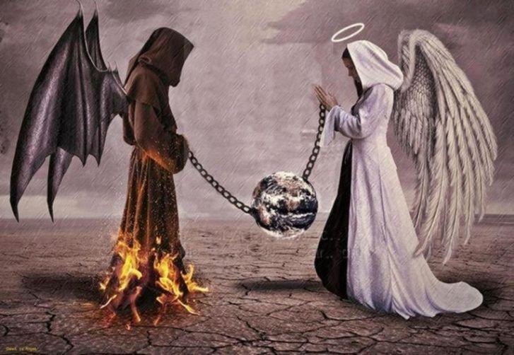 Картинка зло против добра