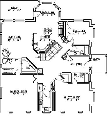 87 best icf homes images on pinterest concrete blocks, building Quality Crafted Homes Floor Plans first floor plan of contemporary hillside traditional house plan 87150 quality crafted homes floor plans