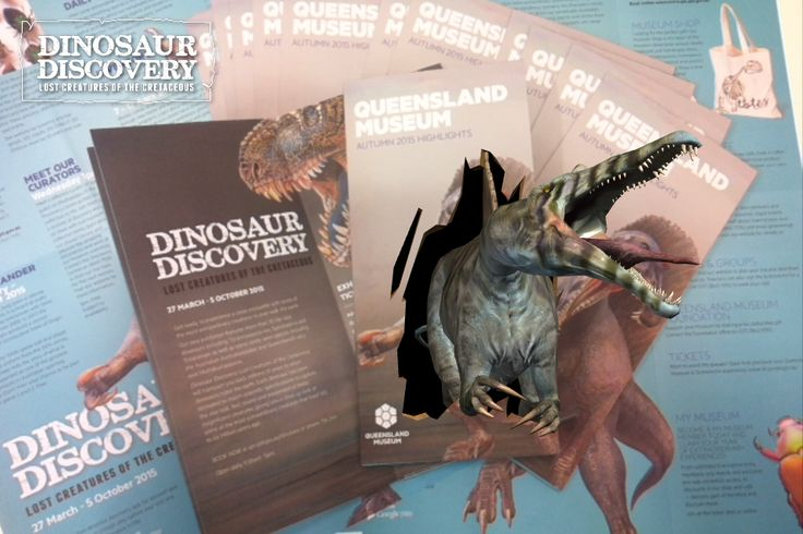 Warning! The Queensland Museum Autumn guide has arrived... and it bites.  Download the free Dinosaur Discovery app via iTunes or Google play and pick up the new Queensland Museum Autumn guide at the Museum or your local cafe to experience our Spinosaurus roaring to life.   It won't be long until Brisbane is teeming with creatures of the Cretaceous…  Find out more www.qm.qld.gov.au/dinosaurapp #QMdinodisco