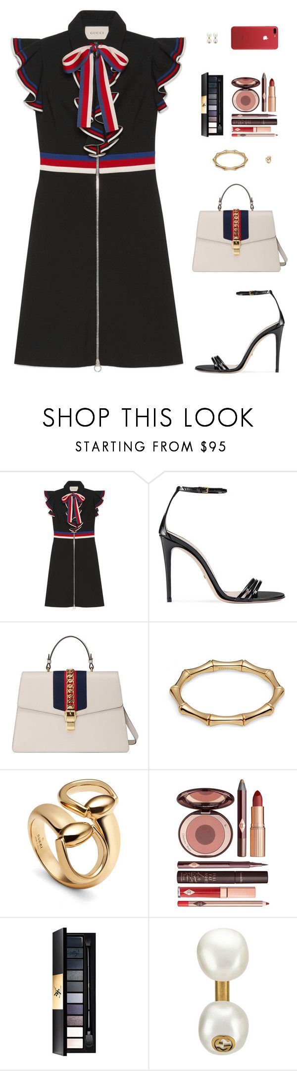 """""""Sin título #4828"""" by mdmsb on Polyvore featuring moda, Gucci, Charlotte Tilbury y Yves Saint Laurent"""