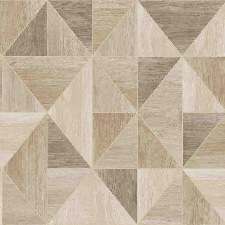 Apex wood grain wallpaper in oak FD2222