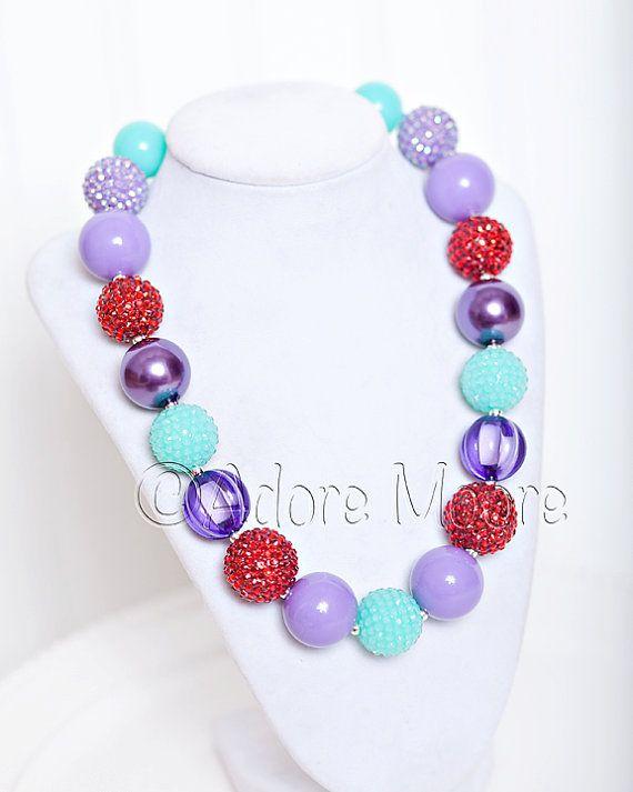 Ariel+Little+Mermaid+Necklace+Disney+Kids+by+AdoreMooreBoutique,+$20.00