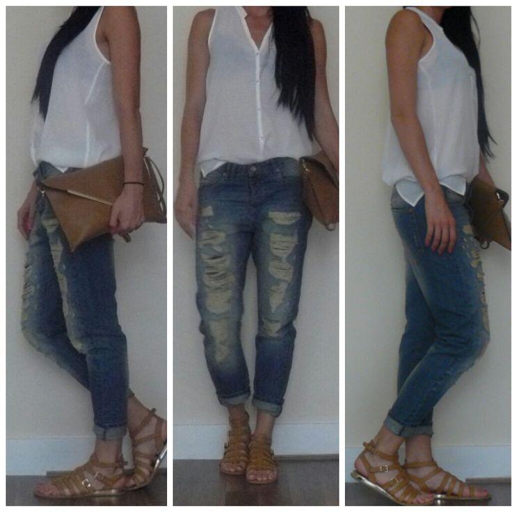 BF Jeans, Boyfriend Jeans, White Shirt