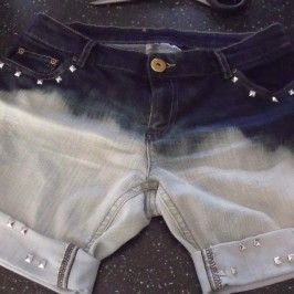 Custo short tie and dye