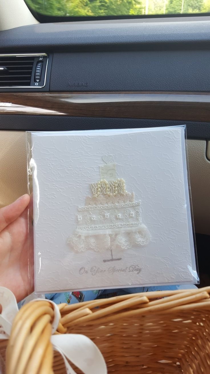 Textile wedding card