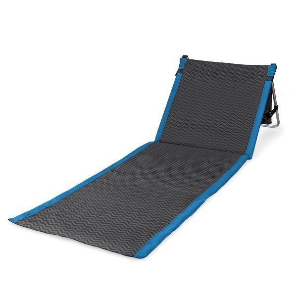 The Beachcomber is for those who enjoy the outdoors and like to be out in it. It's a lightweight, portable beach mat that you can take anywhere. Fully-padded with adjustable reclining backrest, the Beachcomber allows you to stretch out your legs over a durable polyester mat sparing you from messy sand or bug-infested grass. It also features an adjustable shoulder strap and a zippered pocket, large enough to hold magazines and personal effects such as a wallet or shirt. Its steel frame mea...