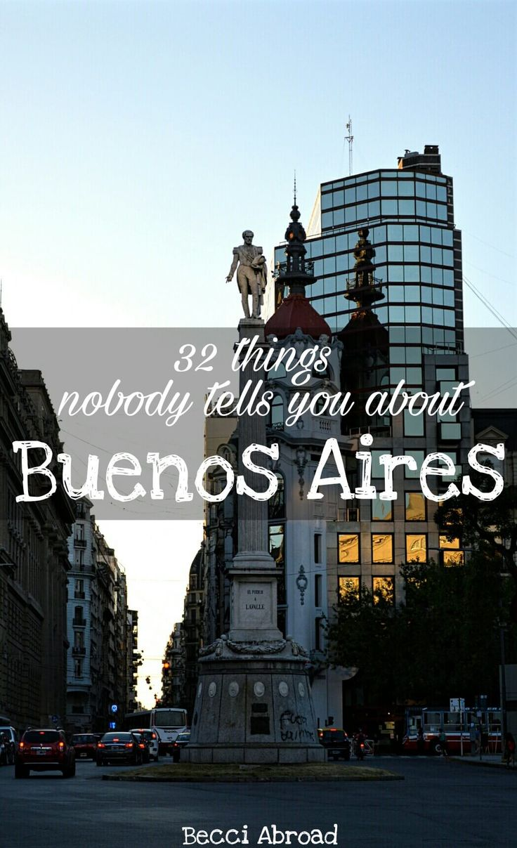 32 things nobody tells you about Buenos Aires